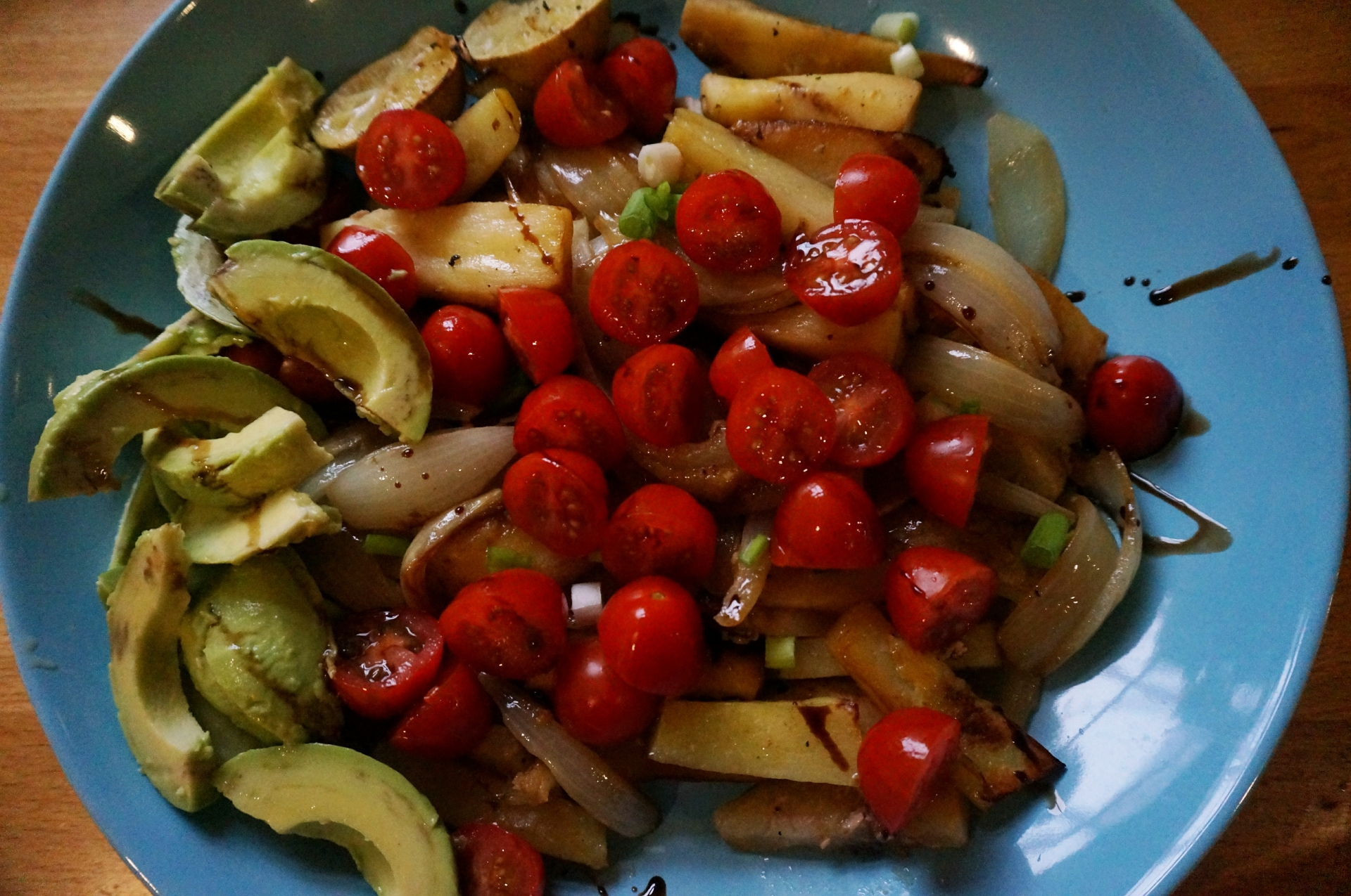 roasted variety root vegetables