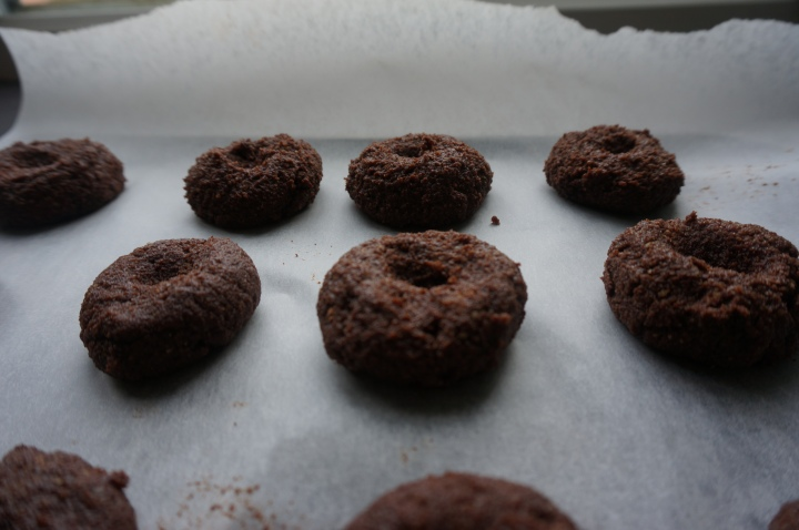 cacao almond cookies-cookie dough