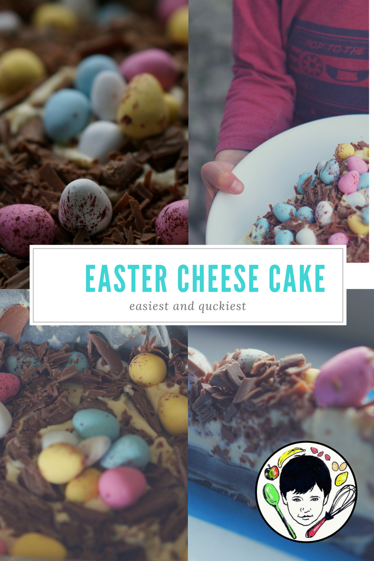 Easter cheese cake-easy and qucik, no bake
