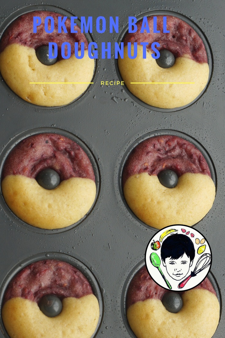 Pokemon ball doughnuts