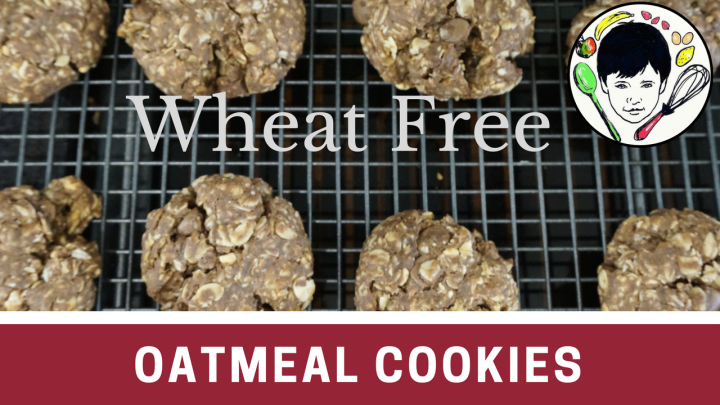 Chocolate Peanut Oatmeal Cookies-Wheat free, refined sugar free